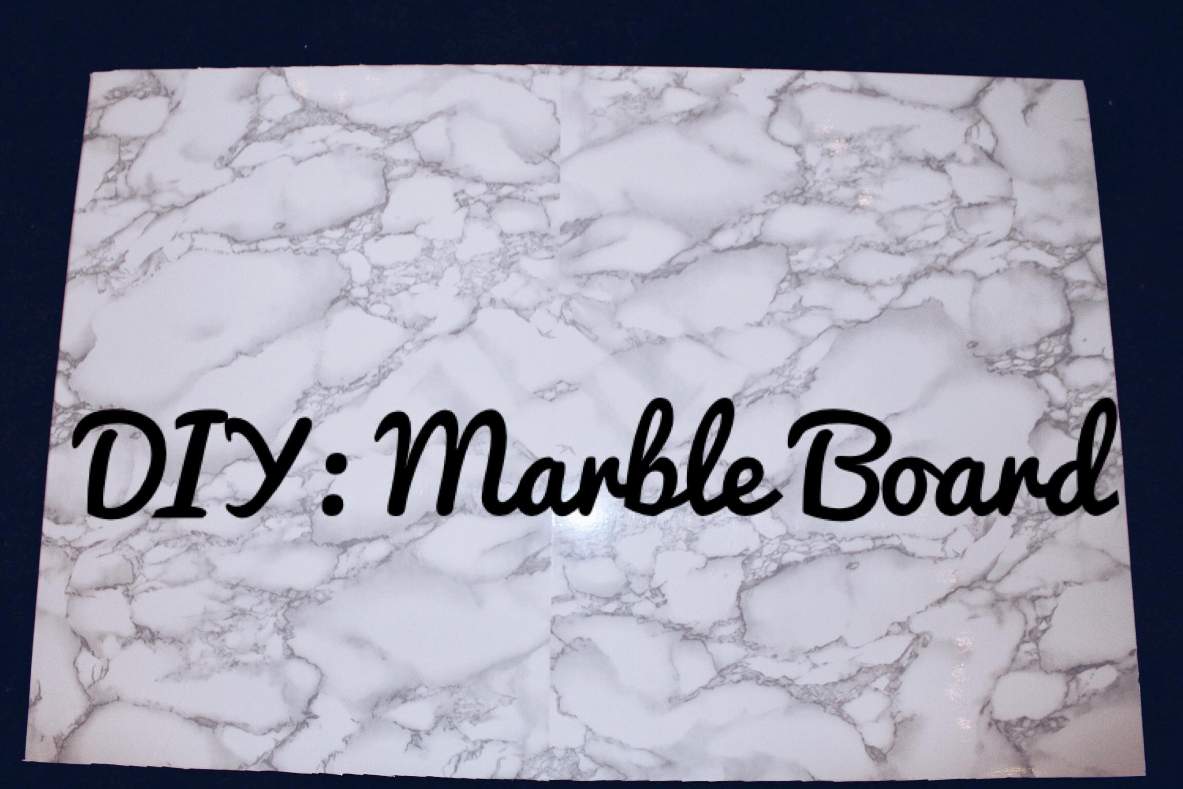 DIY: $20 Vinyl Marble Board