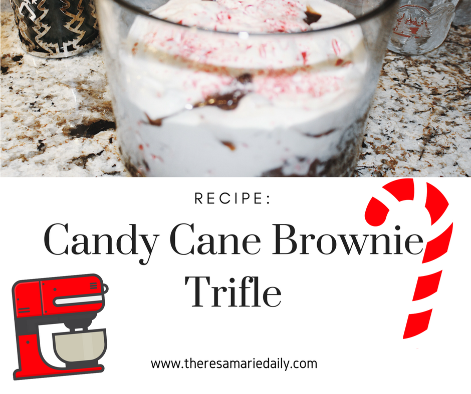 Candy Cane Brownie Trifle Recipe