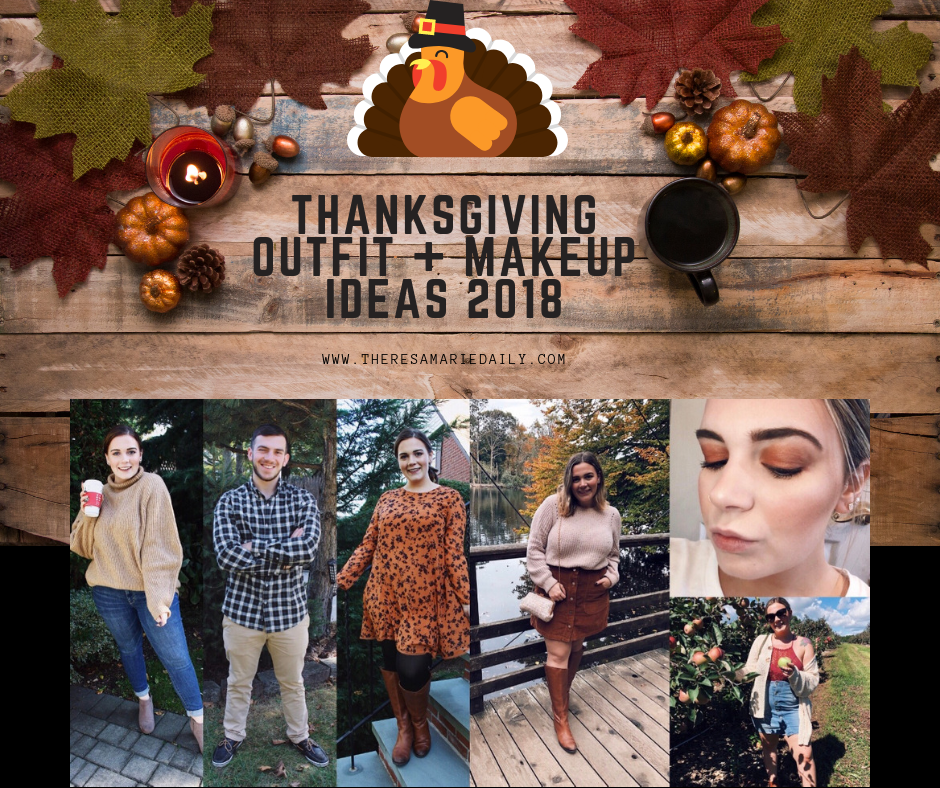 Thanksgiving Outfit + Makeup Ideas
